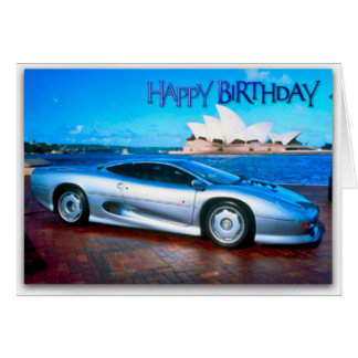 Funny Sports Car Birthday Card