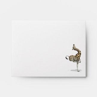 Funny Sporty Giraffe Envelopes
