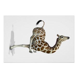 Funny Sporty Giraffe Poster