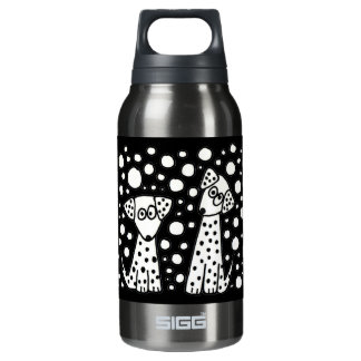 Funny Spotted Puppy Dogs Insulated Water Bottle