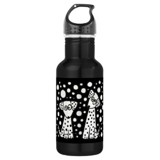 Funny Spotted Puppy Dogs Water Bottle