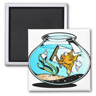 Funny Spring Cleaning Fish Refrigerator Magnets
