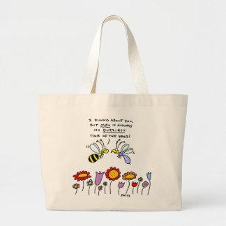 Funny Springtime Flower Gardener Tote Bag