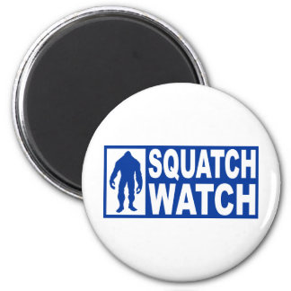 Funny SQUATCH WATCH Gear - Deluxe Finding Bigfoot 2 Inch Round Magnet