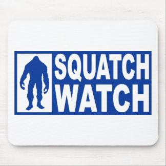 Funny SQUATCH WATCH Gear - Deluxe Finding Bigfoot Mouse Pad