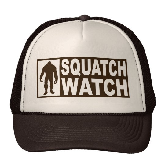 Funny SQUATCH WATCH Hat - Deluxe Finding Bigfoot
