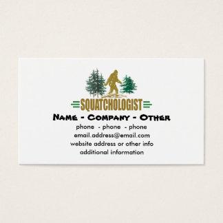 Funny Squatchologist, Sasquatch, I Believe Business Card