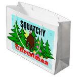 Funny Squatchy Christmas Bigfoot Tacky Large Gift Bag