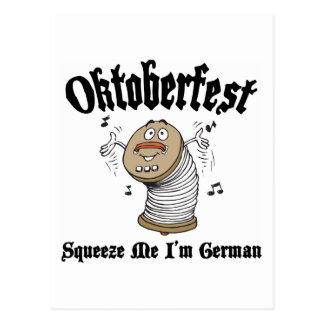 Funny Squeeze Me I'm German Oktoberfest Postcard