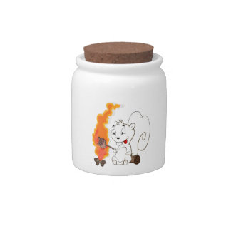 Funny Squirrel Cartoon Candy Dishes