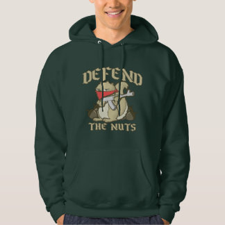 Funny Squirrel - Defend the NUTS! Hoodie