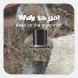 Funny Squirrel: Encouragement Sticker