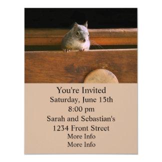 Funny Squirrel Hiding 4.25x5.5 Paper Invitation Card