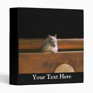 Funny Squirrel Hiding 3 Ring Binder