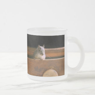 Funny Squirrel Hiding 10 Oz Frosted Glass Coffee Mug