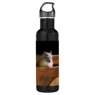 Funny Squirrel Hiding Stainless Steel Water Bottle