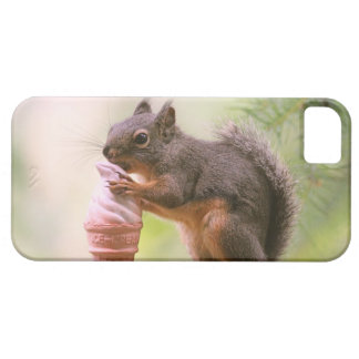 Funny Squirrel Licking Ice Cream Cone iPhone 5 Covers