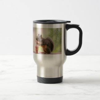Funny Squirrel Licking Ice Cream Cone 15 Oz Stainless Steel Travel Mug