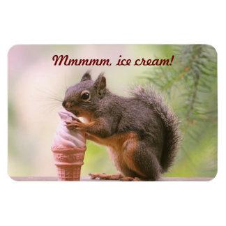 Funny Squirrel Licking Ice Cream Cone Flexible Magnet