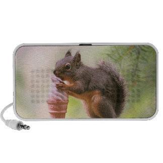 Funny Squirrel Licking Ice Cream Cone Travel Speaker