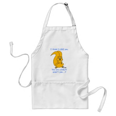 Funny Squirrel Lovers Cartoon Kitchen Apron by Swisstoons