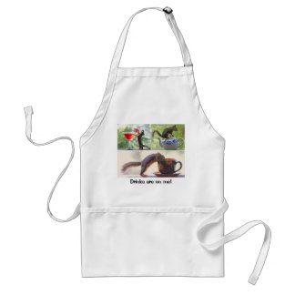 Funny Squirrel Picture Collage Adult Apron
