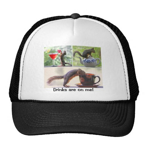 Funny Squirrel Picture Collage Trucker Hats