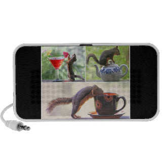 Funny Squirrel Picture Collage Speakers