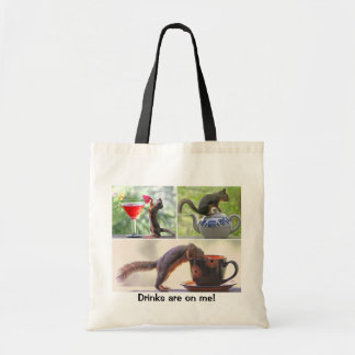 Funny Squirrel Picture Collage Tote Bag