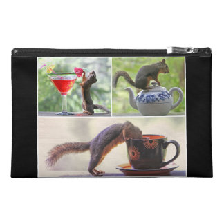 Funny Squirrel Picture Collage Travel Accessories Bag