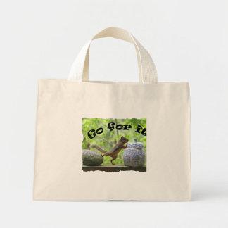 Funny Squirrel Picture ~ Go For It! Mini Tote Bag
