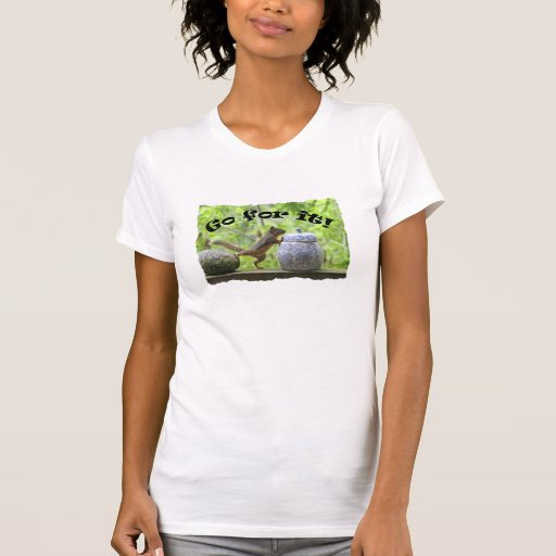 Funny Squirrel Picture ~ Go For It! Tee Shirt