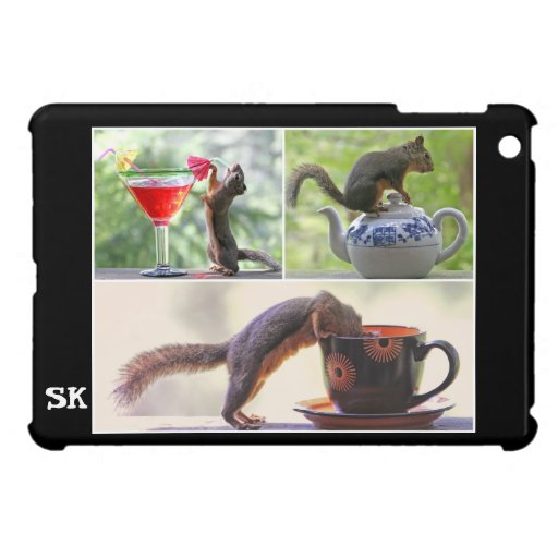 Funny Squirrel Picture Mosaic iPad Mini Covers