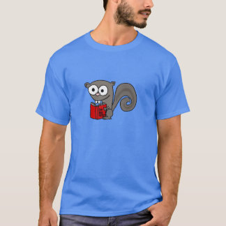 Funny Squirrel Reading Are you Nuts Book T-Shirt