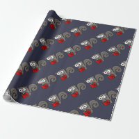 Funny Squirrel Reading Are you Nuts Book Wrapping Paper
