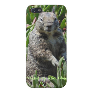 Funny Squirrel Stand up and Cheer Iphone case