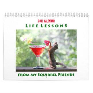 Funny Squirrels Calendar 2016