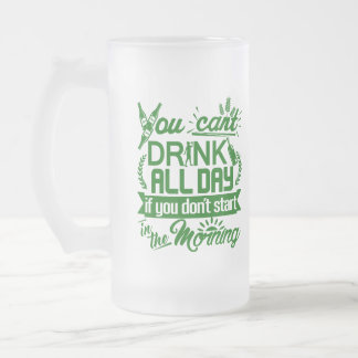 Funny St Paddy's Beer Party Frosted Glass Beer Mug