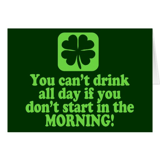 Funny St Paddys Drinking Humor Cards