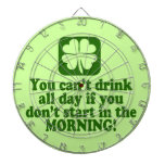 Funny St Paddys Drinking Humor Dartboard With Darts