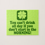 Funny St Paddys Drinking Humor Puzzle