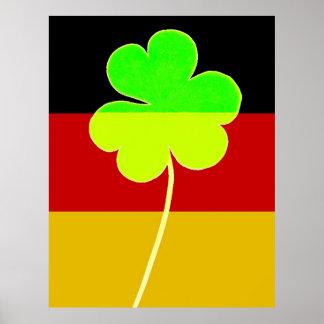 Funny St. Patrick Flag German Irish Shamrock Poster