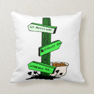 Funny St. Patrick's Day Sign Post Pillow