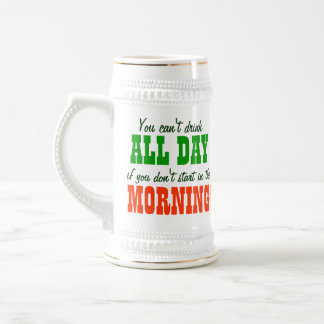 Funny St. Patrick's Day Beer Beer Stein