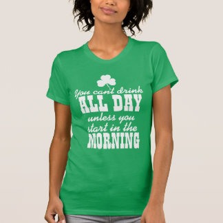 Funny St Patricks Day Beer Drinking Tee Shirt