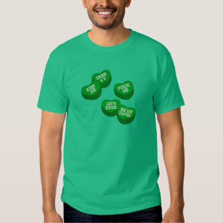 Funny St Patricks day Conversation Hearts Candy T-Shirt