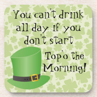 Funny St. Patrick's Day Drink Coasters