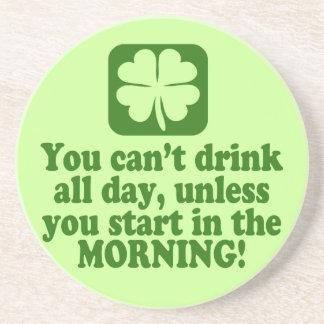 Funny St Patricks Day Drinking Coaster