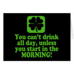 Funny St Patricks Day Drinking Greeting Card