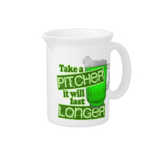 Funny St. Patrick's Day Drinking Pitcher